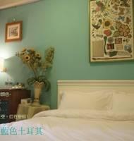 臺中--城市居-草悟道住宿 藍色土耳其雙人房